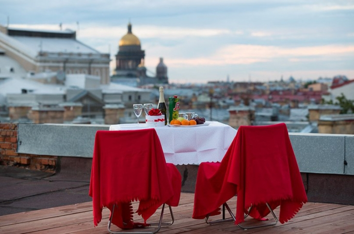 Ужин на крыше Киев
